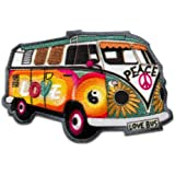 Parches - Hippie Bus Bully Love Peace coche - colorido - 7,2x4,8cm - by catch-the-patch® termoadhesivos bordados aplique para ropa