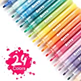 Arrtx Acrylic Paint Markers – 24 Colors Water Based Paint Pen Set for Use on Canvas, Glass, Mugs, Ceramics, Wood, Gift Card Making, DIY Craft - Highly Pigmented, Dries Quick and Odorless