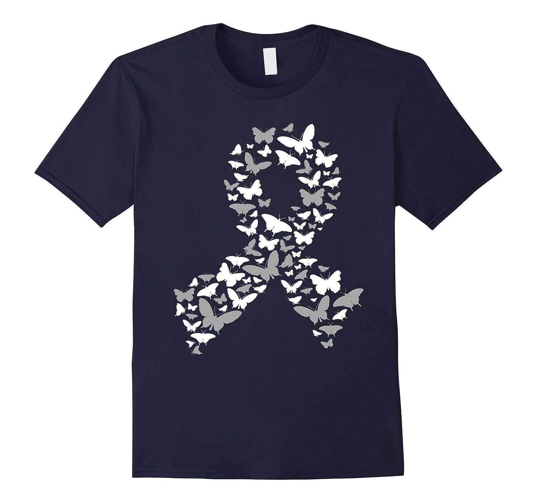Brain Cancer Shirt - Brain Cancer Awareness Ribbon Shirt-Art