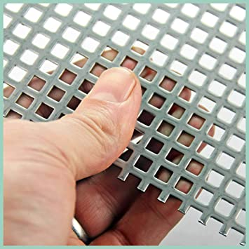 Perforated Mesh Sheet 8mm Hole x 10mm Pitch x 1mm Thickness 8mm Mild Steel