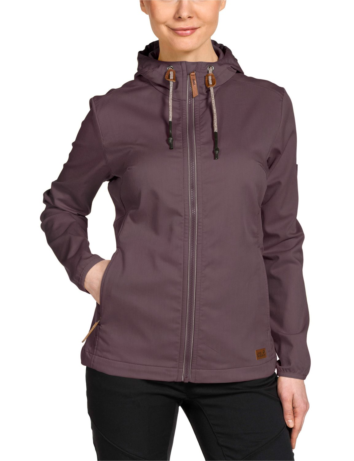 Jack Wolfskin Ladies Manitoba II Softshell Jacket Mulberry XL by Jack Wolfskin