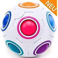 CUBIXS® – Regenbogenball – Geschicklichkeitsspiel für Kinder und Erwachsene – tolles Mitgebsel für Kindergeburtstag Gastgeschenk Spielzeug – auch als Stressball oder Knobelspiel für Erwachsene
