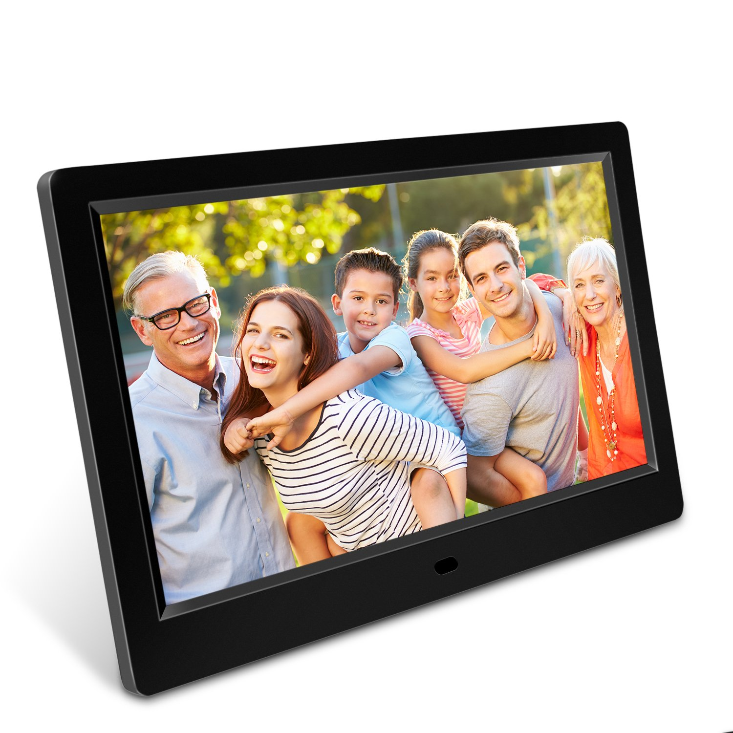 Dooreemee Digital Photo Frame 10.1 inch Widescreen Remote Control with 1080P HD, IPS Display, LCD Screen, The Eletronic Picture Frame Built-in with Calendar/Alarm Function, MP3/Photo/Vid