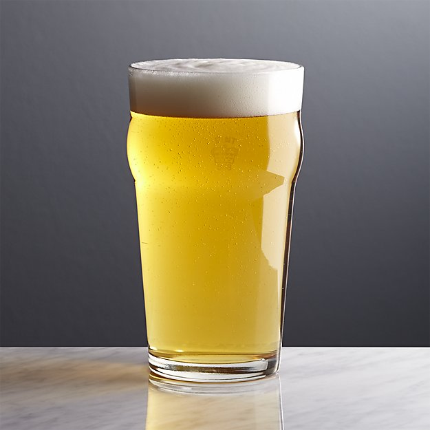 Pint Glass Tumbler with Crown | Crate and Barrel