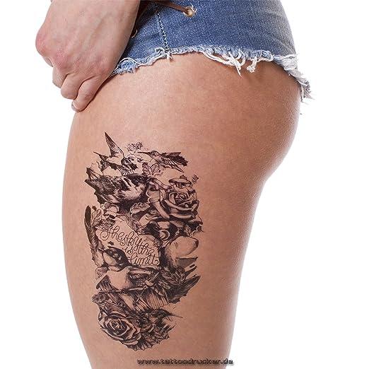 Cuerpo de entfernbare Tattoo Pájaros Pegatinas temporales Tattoo ...
