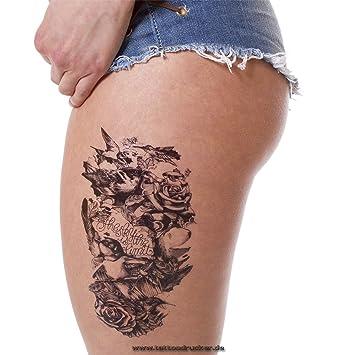 2 X Temporäre Körperkunst Entfernbare Tattoo Aufkleber Vögel Sticker