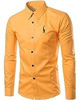 LeNG Slim New Mens Shirt Long Sleeve Chemise Homme NEW Fashion Design Mens Slim Fit Dress Shirts Casual Button-Down Shirts M-4XL Cool
