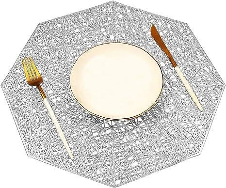 4//6//8 Platzsets Platzdeckchen Untersetzer Tischset Hitzebeständig Platzdeckchen