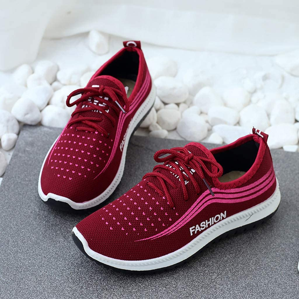 Miuye yuren Womens Fashion Sneaker Fresh Foam Slip on Walking Shoes Flats Shoes Sports Gym Loafers