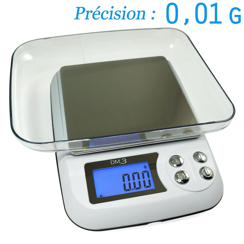 Balance Haute Précision XL - 0.01g max 600g - avec Plateau de pesée Digital scale
