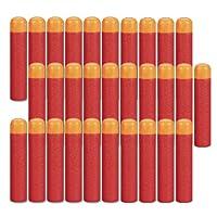 HONGCI 9.5cm Rouge Mousse Recharge Doux Fléchettes Balle Pour Arme-Jouet Nerf N-Strike Centurion Mega Série Elite Blasters Pistolet (30pcs)