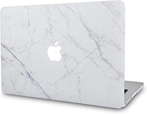 """LuvCaseLaptopCaseforMacBookPro 13"""" (2020/19/18/17/16 Release) with/Without Touch Bar A2251/A2289/A2159/A1989/A1706/A1708 RubberizedPlasticHardShell Cover (Ice Marble)"""