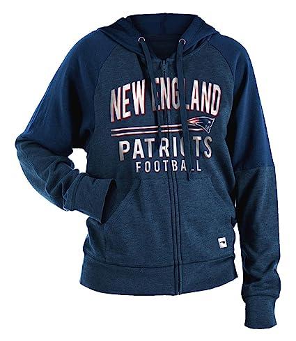 e6c812bd68f New England Patriots Women s Tri-Blend Fleece Zip Up Hooded Sweatshirt  X-Small