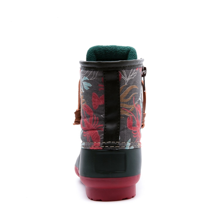 Women's GW Nylon Textile Duck Rain Boots B01JPTK4AC 9 B(M) US|Green