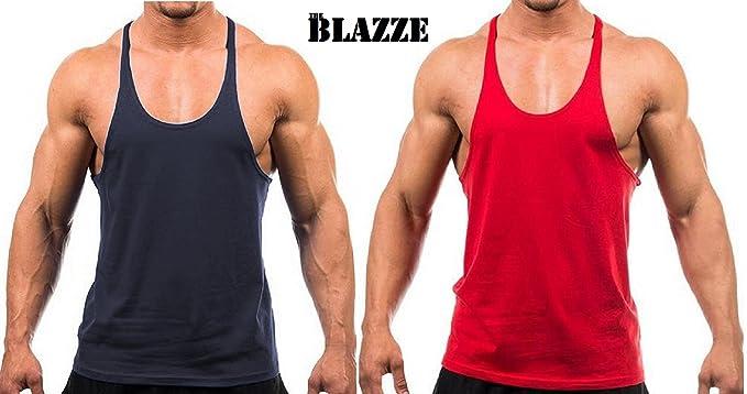 a5cd5edb66f29 Image Unavailable. Image not available for. Colour  BLAZE Blazze Men s  Stringer Y Back Bodybuilding Gym Tank Tops ...