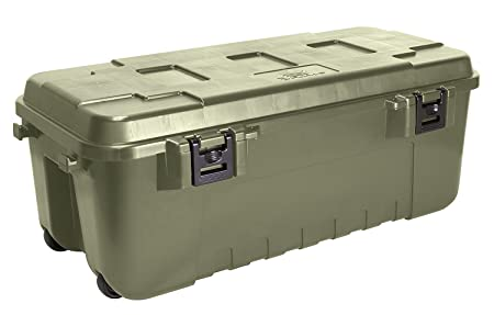 Nice New Heavy Duty Plano Military Storage Trunk, Olive Drab