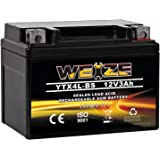 Weize YTX4L-BS High Performance-Rechargeable-Sealed Motorcycle Battery Compatible With Polaris Scrambler, Sportsman 90, Honda