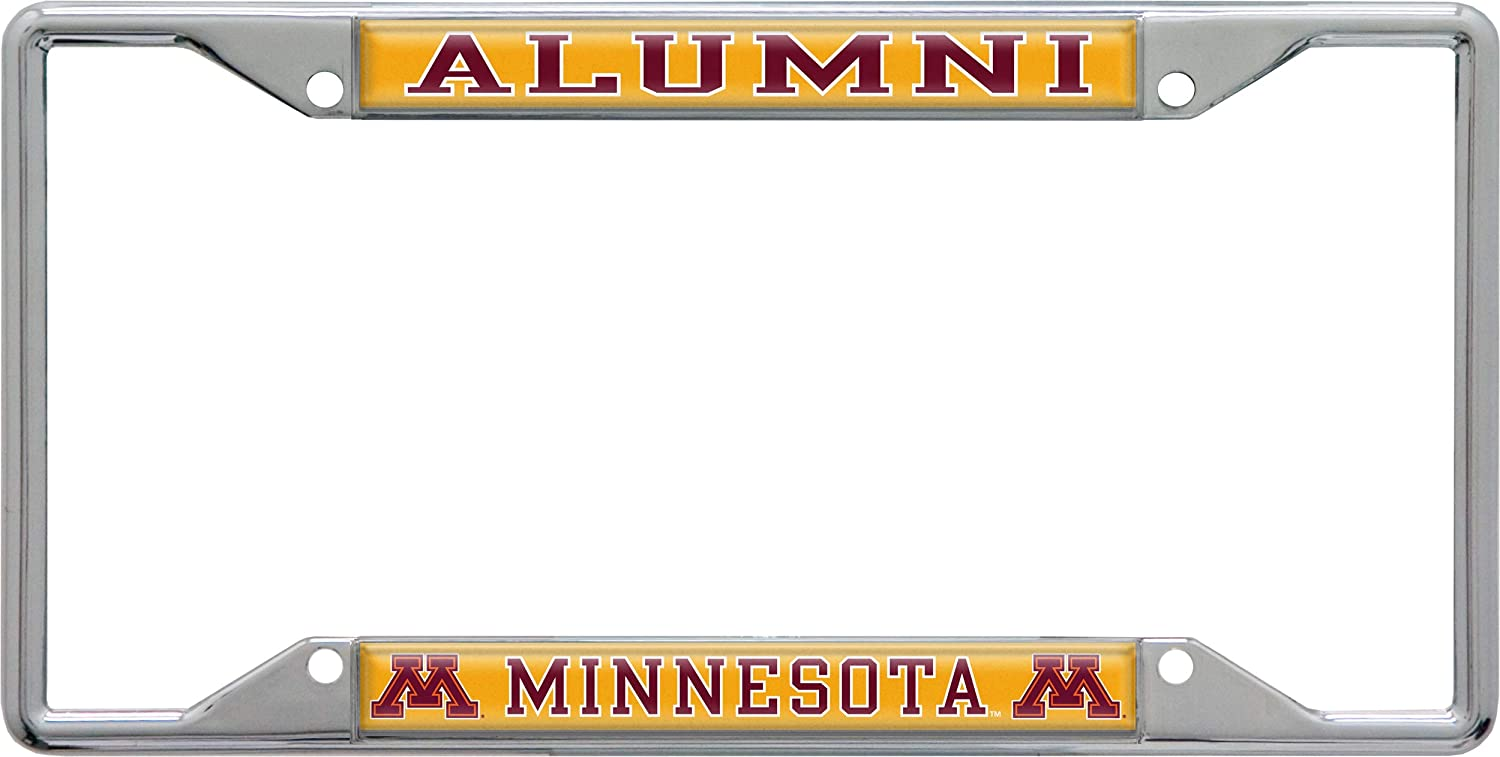 4 Mount Holes Wincraft University of Minnesota Alumni Metal License Plate Frame
