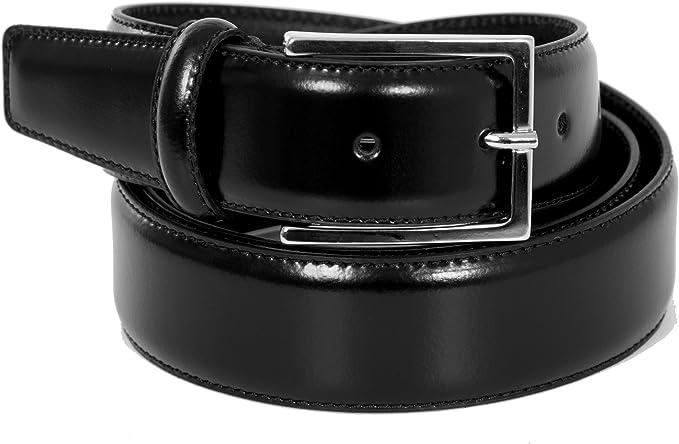 Cintura Uomo in Vera pelle lucida di alta qualità - 100% Made in Italy -  35mm: Amazon.it: Abbigliamento