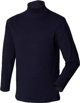 Henbury Mens Long Sleeve Cotton Rich Roll Neck Top/Sweatshirt (UK Size: 2XL) (Navy)