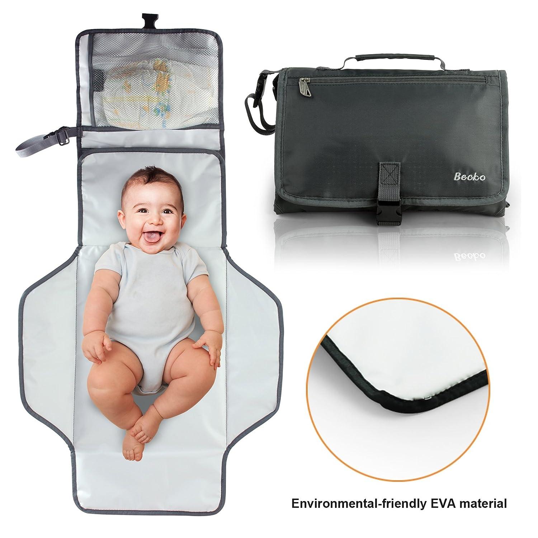 Becko Eco-friendly Water-proof Diaper Pad Clutch / Baby Diaper Changing Handbag Purse / Unisex Multi-functional Diaper Mat Bag