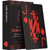 Mindrax Naipes Premium | Cartas de póker de diseño Profesional Impermeables 100% plástico e índice Grande