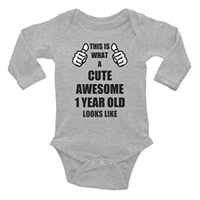 Gift For 1 Year Old Boy Girl Birthday Party Ideas Clothes Christmas Funny Cute Awesome