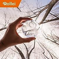 Rollei Lensball - 照片玻璃球/水晶球由光学镀膜的 K9 玻璃玻璃,非常适合DSLR、DSLM 和智能手机22667 90 mm 透明