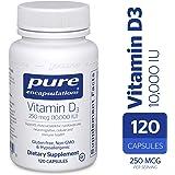 Pure Encapsulations - Vitamin D3 10,000 IU - Hypoallergenic Support for Bone, Breast, Prostate, Cardiovascular, Colon and Immune Health* - 120 Capsules