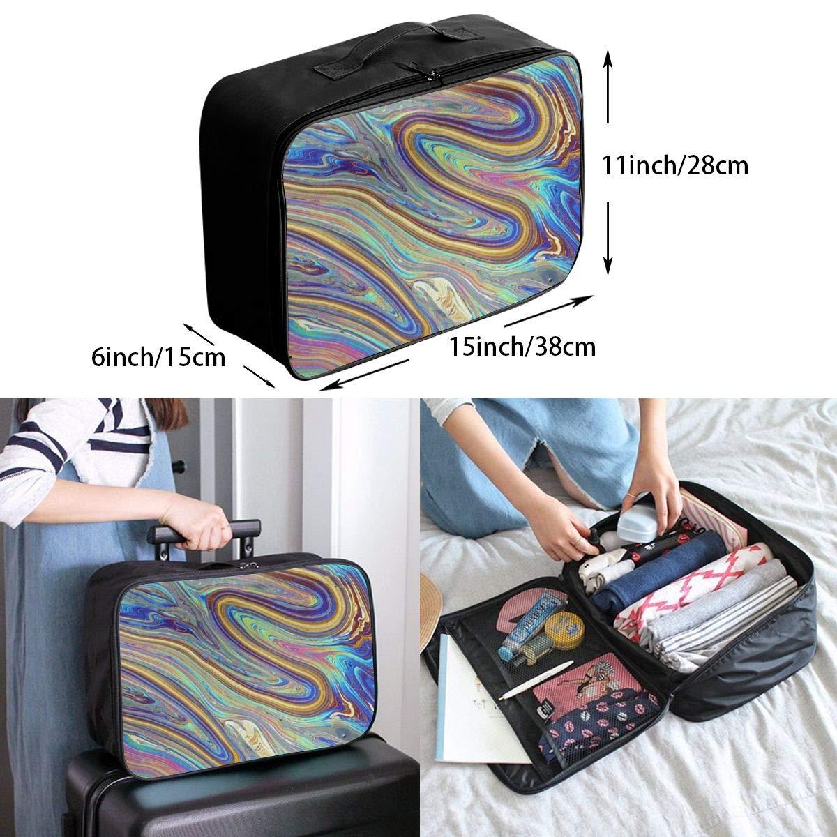 Travel Bags Rainbow Colored Portable Duffel Trolley Handle Luggage Bag
