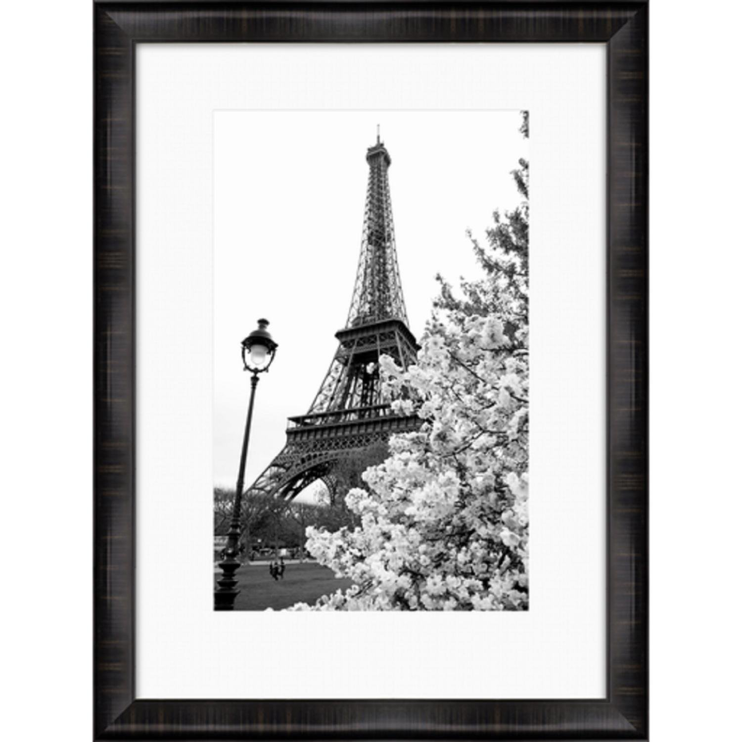 40'' Black and White Eiffel Tower and Tree Print Decorative Wall Art