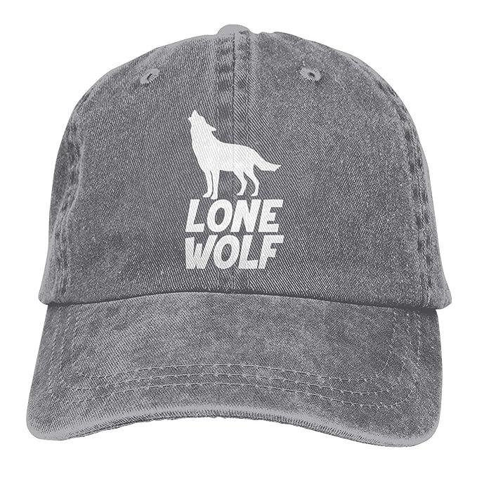 JDDZ Lone Wolf Mens /& Womens Unisex Hat Black