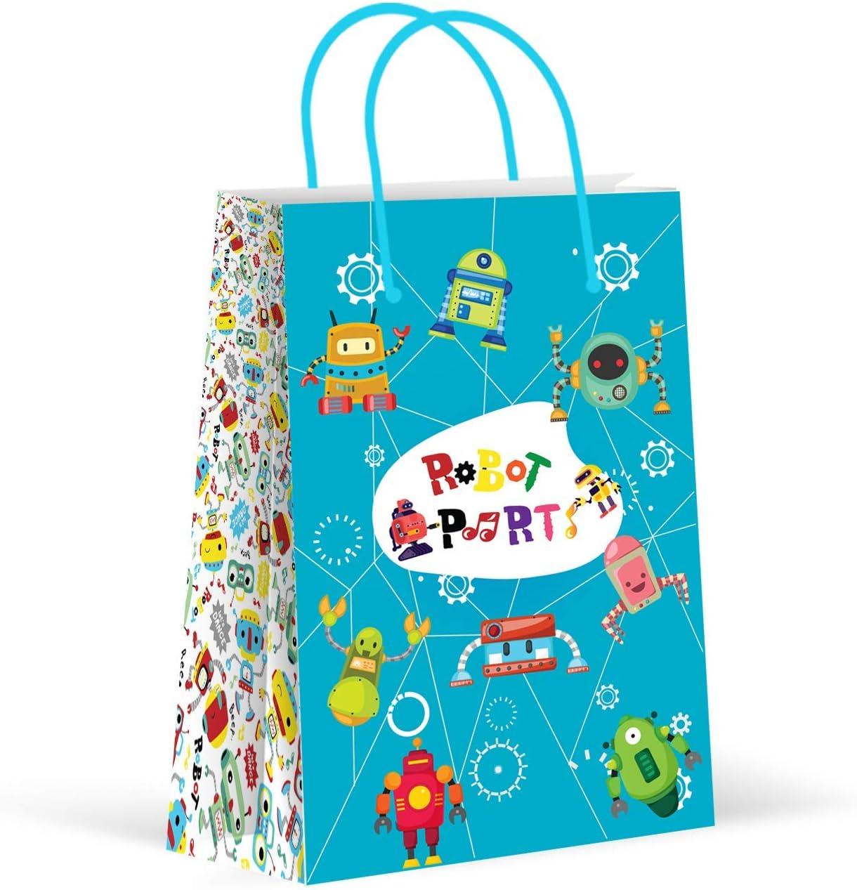 Premium Robot Party Bags, Party Favor Bags, New, Treat Bags, Gift Bags, Goody Bags, Party Favors, Party Supplies, Decorations, 12 Pack
