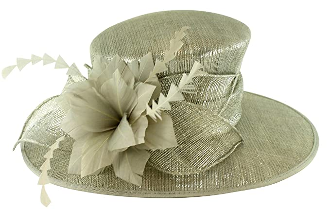 38d79116acd54 Failsworth Millinery Occasion Hat in Carbon-Silver, Size: Medium (57cm)