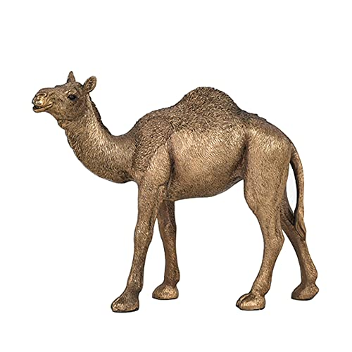 Homestia Camel Statue Carving Animal Collectible Figurine Handcrafted Resin Sculpture Home Decor A