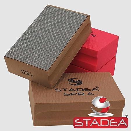 STADEA Diamond Hand Polishing Pad Electroplated Grit 100 for Granite Concrete