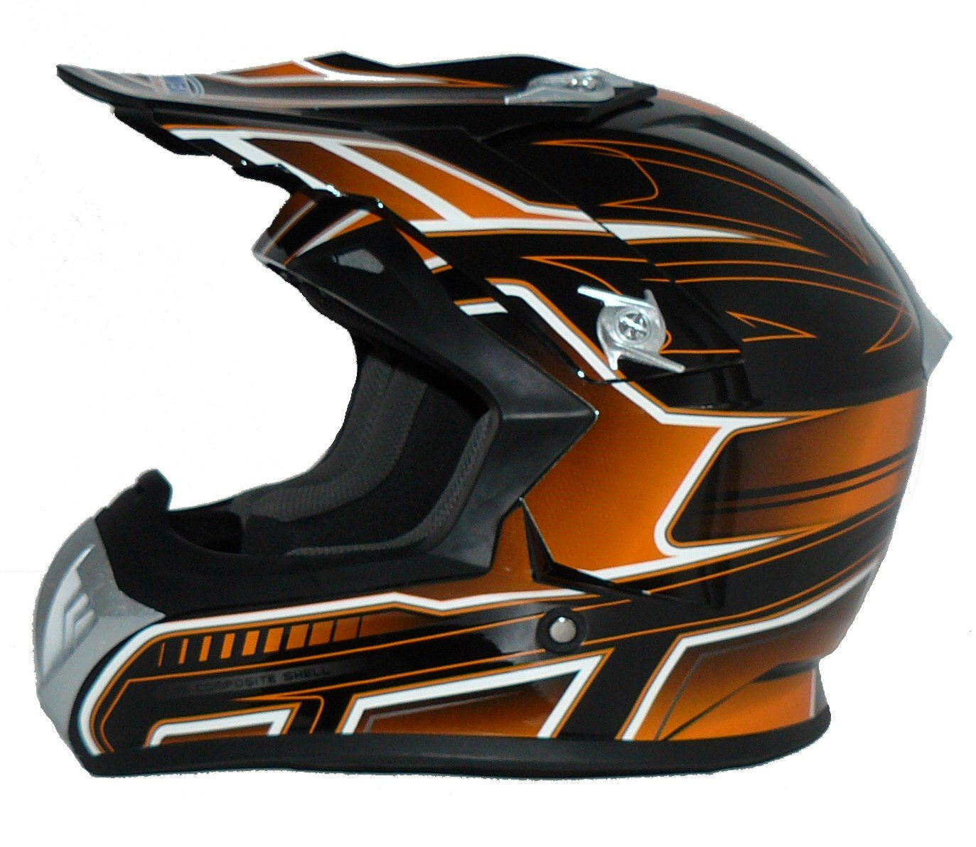 Protectwear casque de moto Taille: XS casque de Cross FS603-OR casque Enduro orange-noir