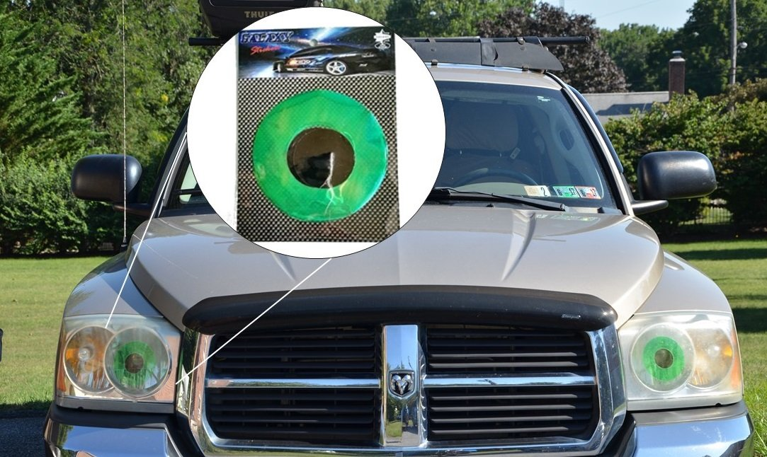 Green Car Eyes Headlight Tint Sticker Perfect Pairing With Eyelashes