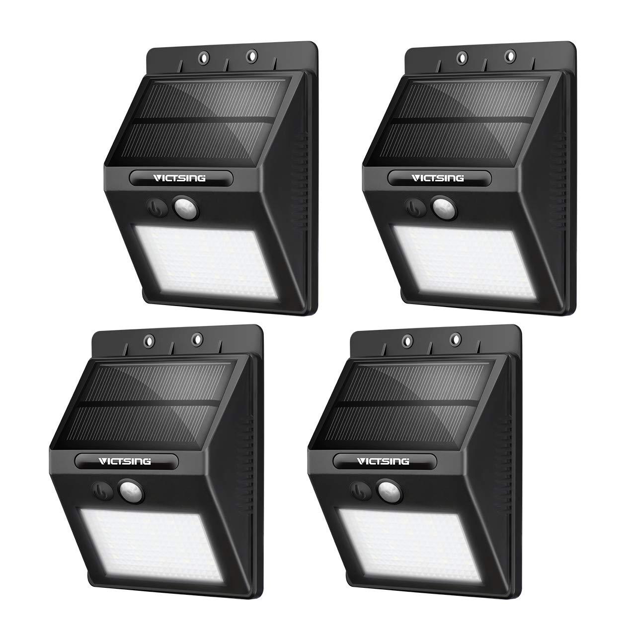 VicTsing Luces Solares LED Exterior, Lámpara Solar con Sensor de Movimiento Impermeable de 400lm, Foco Solar de Pared para Jardín, Garaje, Camino, Patio, 4 Piezas product image