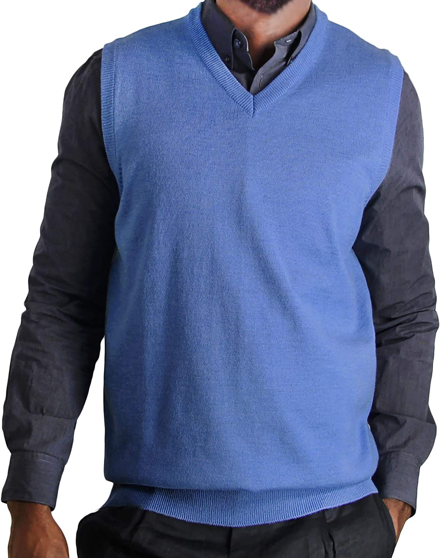 Blue Ocean Big Men Heather Sweater Vest