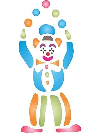 Clown Schablone U2013 (Größe 11,5 X 24 Cm) Wiederverwendbar Wand Schablonen Für