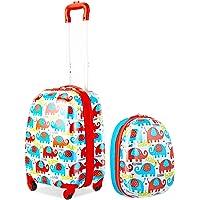 GOPLUS 2 in 1 Valigetta bimbo Trolley bambino Piccolo Bagaglio di Viaggio Carino Valigetta+Zaino