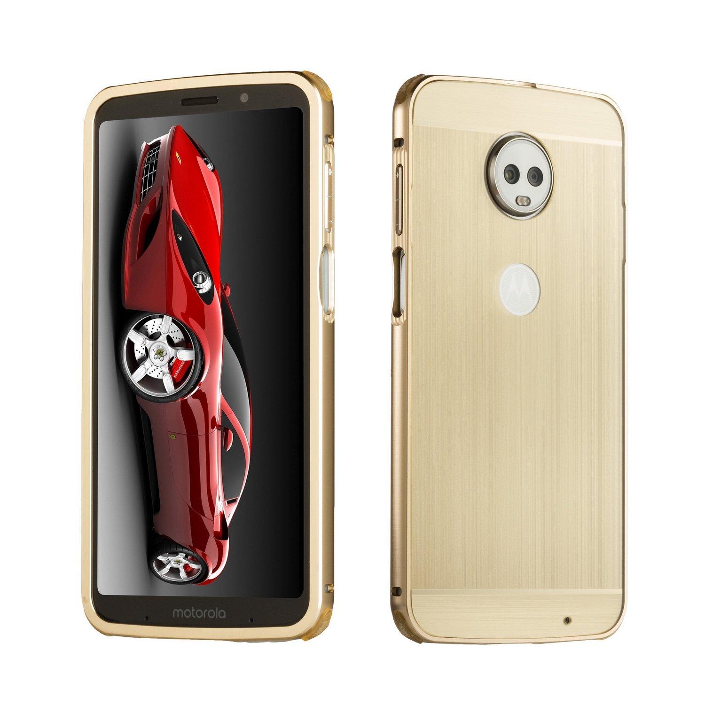 DAMONDY Moto Z3 Play Case, Luxury Ultra thin Imitation Metal Brushed Premium Aluminum Shockproof Protective Bumper Hard Back Case Cover for Motorola Moto Z3 Play-Black