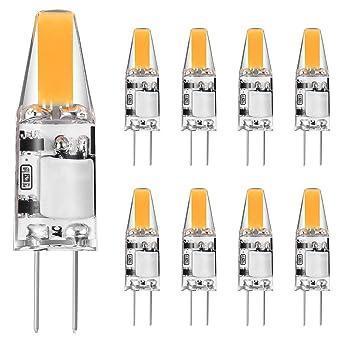 Bombillas LED G4 2W Blanco Cálido 2700K AC/DC 12V Bombillas Halógenas G4 10w 20W