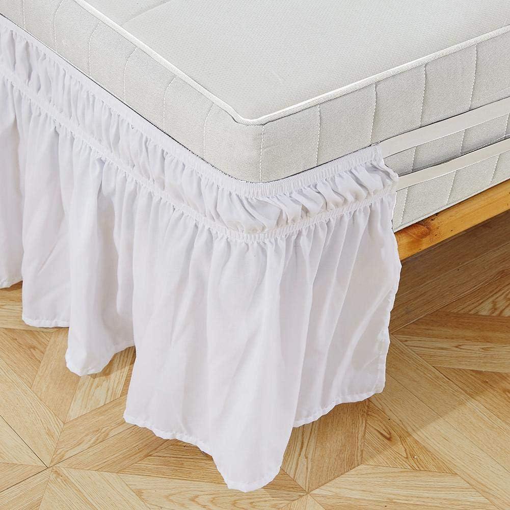 Redxiao~ 【𝐎𝐟𝐞𝐫𝐭𝐚𝐬 𝐝𝐞 𝐁𝐥𝐚𝐜𝐤 𝐅𝐫𝐢𝐝𝐚𝒚】 Volante elástico de la Cama, fácil de Poner/Quitar fácilmente la Falda de la Cama, Cama de Cenefa para el hogar,(King: 78 * 80+15inch)