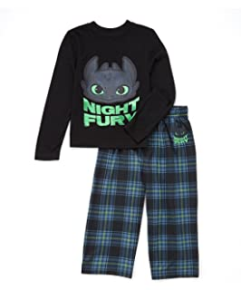Amazon how to train your dragon little boys dragon pajama set intimo boys how to train your dragon night fury plaid pajama set ccuart Image collections