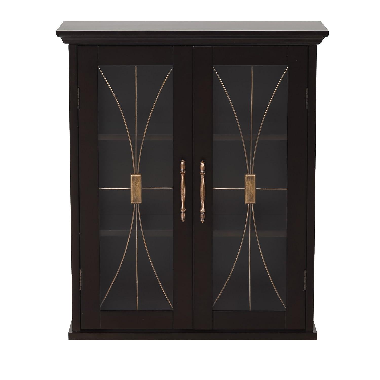 Metro Shop Veranda Bay Dark Espresso Wall Cabinet-Wall cabinet with 2 doors