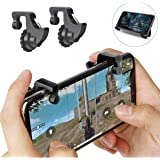 FASHIONISTA Gaming Trigger - Mobile Game Controller,Aim Key, Shooter, Trigger Fire Button for PUBG and FORNITE -Black (1 Pair)