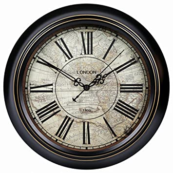 Retro Reloj de Pared silencioso Salón Jane Europea Antiguos gráficos de Pared País Americano Retro Dormitorio escandinavo Reloj de Moda Simple Reloj ...