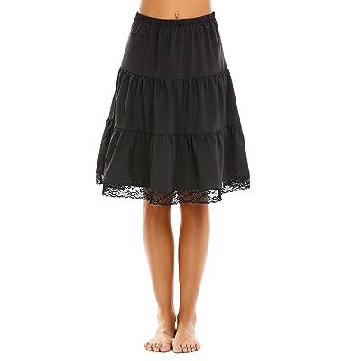 Aimado Skirts Women High Waist Knee Length Patchwork Casual Summer Skirt(S, XL) at Amazon Women's Clothing store